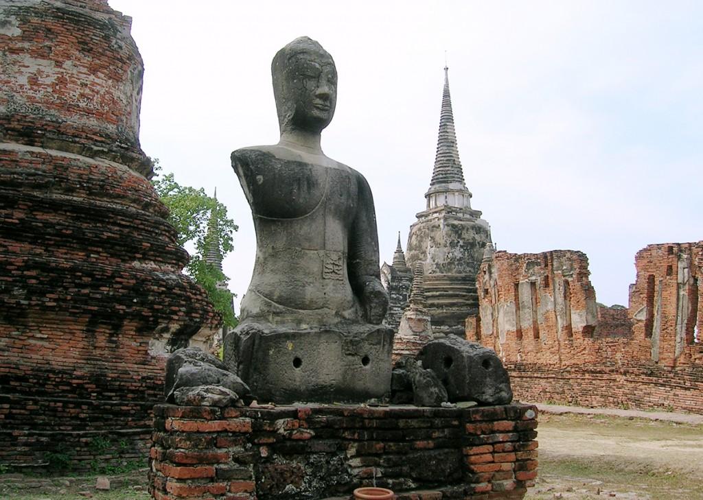 Buddhafigur i Ayutthaya, Thailands gamle hovedstad