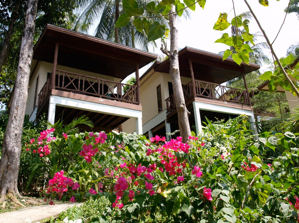 Der er god udsigt over havet fra mange af hotellerne på Phi Phi-øerne
